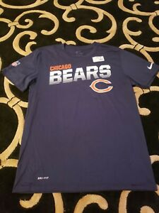 Chicago Bears Nike Sideline Line of Scrimmage Men's Medium Navy Blue Shirt NFL