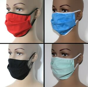 Face Mask cotton washable double layer cover mouth nose reusable breathable