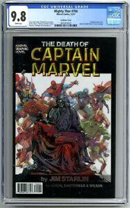 Mighty Thor #700 / Death of Captain Marvel #1 Lenticular Variant CGC 9.8!!!