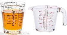 Kitchen Craft Set Of 2 Glass Mini Measuring Jugs -  ml, Teaspoon, Shots, fl oz