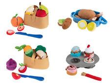 Soft Pretend Toy Food Kitchen Set Kids Washable Fabric Play Food Set