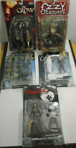NOS ACTION FIGURE X FILES + OZZY OSBOURNE + SLEEPY HOLLOW + THE CROW LOT OF 5
