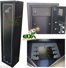 GDK X-LARGE 6 GUN CABINET, 6 SCOPED RIFLES, SHOTGUN & INNER AMMO SAFE,AMMUNITION