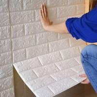 10X 77x70cm 3D Tile Brick Wall Sticker Self-adhesive Waterproof XPE Foam Panel