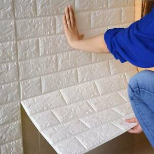 10X 77x70cm 3D Tile Brick Wall Sticker Self-adhesive Waterproof XPE Foam Panel
