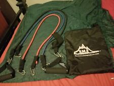 Preowned Black Mountain Products Resistance Bands Set Of 3 With Carrying Case.