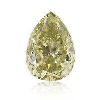 0.55 Carat Fancy Intense Yellowish Green Loose Diamond Natural Color Certified