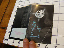 vintage JEWELRY booklet: THE DAY YOU BUY A DIAMOND undated, 31 pages