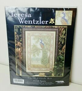 Teresa Wentzler Peacock Tapestry Counted Cross Stitch Kit SEALED 22.5 x 14.5