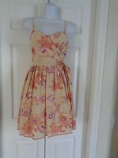 Chelsea & Violet SWEETHEART EMBROIDERY TIE SIDE FLORAL DRESS SZ S NWT $189