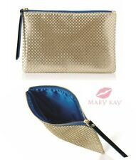Mary Kay Runway Bold Collection Bag - Gold - Blue Lining