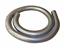 "63mm 2 1/2 "" FLEXIBLE polylock acier inoxydable tuyau 1/4 mètres Échappement"