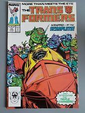 Transformers #29 1987 VF+ Marvel Transformers Comics Don Perlin