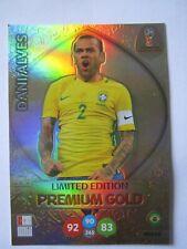 World Cup Russia 2018 Premium Gold Ltd Edition - Dani Alves of Brazil