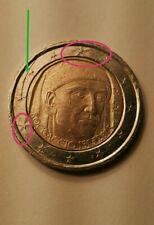 Moneta 2 Euro italiana 700° anniversario BOCCACCIO Commemorativa errore conio
