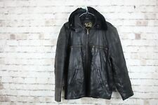 Black Real Leather Jacket  Size Small No.M396 20/2