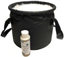 2pc Set Earth Camp Soap & Premium Collapsible Water Basin Bucket ~Camp Fish Hunt
