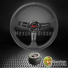 "330mm Black 2"" Deep Dish Steering Wheel + Hub Adapter Subaru Legacy 1990-2014"