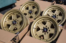 Used 15X8 XXR 532 4X100/114.3 +0 Gold Rims Aggressive Fits Miata E30 240z