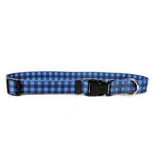 NEW Buffalo Plaid Blue Dog and Cat Collar by Yellow Dog Design FREE SHIPPING