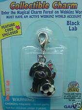 Webkinz Black Lab Collectible Charm VHTF NEW W/ CODE