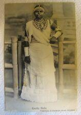 Antique Coolie Belle Trinidad B.W.I. Postcard