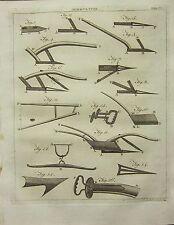 1797 GEORGIAN PRINT~ AGRICULTURE PLOUGHS PARTS BRIDLE MUZZLE BEAM SOCK COULTER