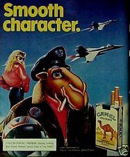 1988 Joe Camel Top Gun Type Air Force Pilot ~ Jet Plane Cigarettes Sexy Women Ad