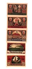 1922 Germany NEUBRANDENBURG  set of 25 and 50  Phennig  UNC ALL HAVE SERIAL 1377