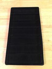 Black Velvet Lined Plastic Jewelry Insert Tray Liner Only Set Of 3