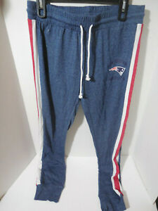 New Ladies New England Patriots NFL Lounge Joggers Pants Blue Red Size Medium