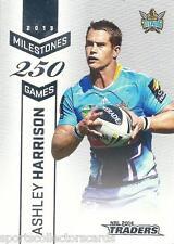 2014 NRL ESP TRADERS MILESTONE M5 Ashley Harrison Gold Coast TITANS CARD