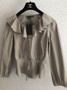 Mulberry Ladies Frill Neck Blouse Size 8