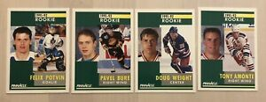 (55) 1991-92 Pinnacle  ROOKIE Cards Lot  T.AMONTE • P.BURE • F.POTVIN • A.IRBE