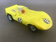 Strombecker Chaparral 2A 1/32 scale slot car in yellow