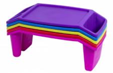 Kids Lap Desk / Plastic Lap Tray - 5 Assorted Colors