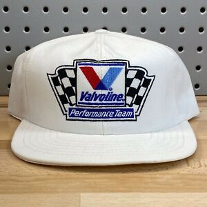 Vintage Valvoline Performance Team White Snap Back Cap Made In USA EUC Hat
