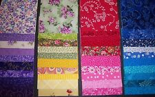 "** 40** Rainbow Collection"" Quilt Quilting Squares Cotton 4"" New**Lovely**"