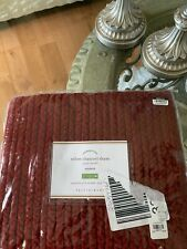 Pottery Barn Standard Sham Velvet Channel Quilted Ruby Red