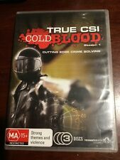 TRUE CSI : COLD BLOOD Season One Good Condition 3 DVDs R All PAL