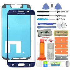 Samsung Galaxy S6 Replacement Screen Front Glass Outer Lens Repair Kit BLUE