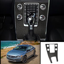 For Volvo S60 V60 2012-2020 carbon fiber central console Gear shift panel trim