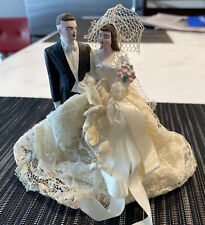 """Vintage Cake Topper Plaster of Paris 1930-40s About 5"""" Tall  In Great Condition."""