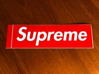 NEW Supreme RED Box Logo Sticker - 100% Original -  Lot 9