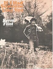 If I Had Someone Like You - Berni Flint - 1977 Sheet Music