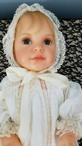 Heart And Soul adorable Resin Baby Doll Ann Timmerman lovely batiste clothes