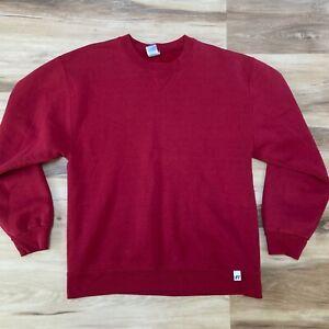 Vintage Russell Athletic Dri Power Blank red Sweatshirt Size Medium 50/50