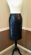 NWT Modcloth Mics, Camera, Action Skirt 6 Black Sequin Pencil Cocktail BB Dakota