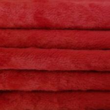 "1/4 yd Vis1 Ruby Red Intercal 6mm ""Flat"" Med. Dense German Viscose Fur Fabric"