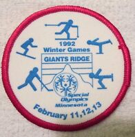 Vintage Special Olympics Patch Minnesota Giants Ridge 1992 Winter Games